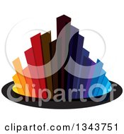 Clipart Of A Colorful City With Tall Skyscraper Buildings 3 Royalty Free Vector Illustration by ColorMagic