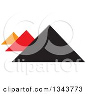 Clipart Of Pyramids In Orange Black And Red Royalty Free Vector Illustration