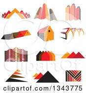 Clipart Of Pyramids City Buildings And Houses Royalty Free Vector Illustration