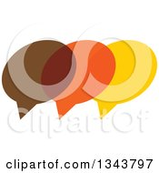 Clipart Of A Brown Orange And Yellow Speech Balloon Chat App Icon Design Element 2 Royalty Free Vector Illustration