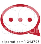 Red Speech Balloon Chat App Icon Design Element 2