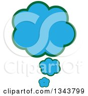 Clipart Of A Blue Speech Or Thought Balloon Chat App Icon Design Element Royalty Free Vector Illustration