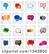Clipart Of Speech Balloon Chat App Icon Design Elements 2 Royalty Free Vector Illustration