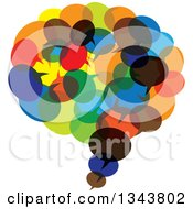 Clipart Of A Speech Balloon Chat App Icon Design Element Made Of Colorful Bubbles Royalty Free Vector Illustration