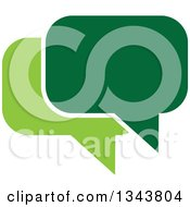 Clipart Of A Green Speech Balloon Chat App Icon Design Element Royalty Free Vector Illustration
