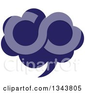 Clipart Of A Blue Speech Balloon Chat App Icon Design Element 3 Royalty Free Vector Illustration