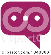 Clipart Of A Purple Speech Balloon Chat App Icon Design Element Royalty Free Vector Illustration