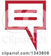Clipart Of A Red Speech Balloon Chat App Icon Design Element Royalty Free Vector Illustration