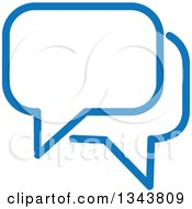 Blue Speech Balloon Chat App Icon Design Element 2
