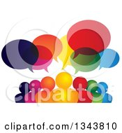 Clipart Of A Colorful Group Of People With Speech Balloons 10 Royalty Free Vector Illustration