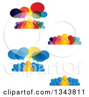 Clipart Of Groups Of People With Speech Balloons Royalty Free Vector Illustration