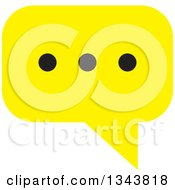 Clipart Of A Yellow Speech Balloon Chat App Icon Design Element Royalty Free Vector Illustration