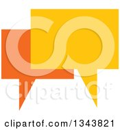 Clipart Of A Yellow And Orange Speech Balloon Chat App Icon Design Element Royalty Free Vector Illustration