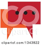 Clipart Of A Red And Orange Speech Balloon Chat App Icon Design Element Royalty Free Vector Illustration