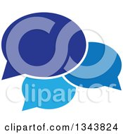 Clipart Of A Blue Speech Balloon Chat App Icon Design Element Royalty Free Vector Illustration