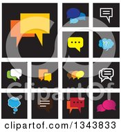 Clipart Of Speech Balloon Chat App Icon Design Elements Royalty Free Vector Illustration