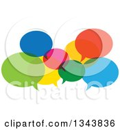 Clipart Of Colorful Speech Balloons 3 Royalty Free Vector Illustration