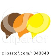 Clipart Of A Brown Orange And Yellow Speech Balloon Chat App Icon Design Element Royalty Free Vector Illustration