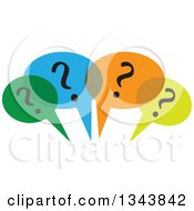 Clipart Of Colorful Speech Balloons With Question Marks Royalty Free Vector Illustration