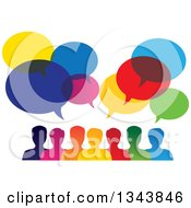 Clipart Of A Colorful Group Of People With Speech Balloons 8 Royalty Free Vector Illustration