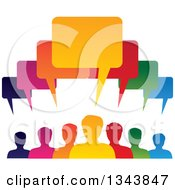 Clipart Of A Colorful Group Of People With Speech Balloons 7 Royalty Free Vector Illustration