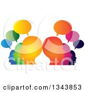 Clipart Of A Colorful Group Of People With Speech Balloons 5 Royalty Free Vector Illustration