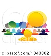 Clipart Of A Colorful Group Of People With Speech Balloons 2 Royalty Free Vector Illustration