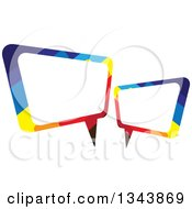 Clipart Of A Colorful Speech Balloon Chat App Icon Design Element Royalty Free Vector Illustration