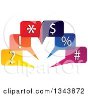 Clipart Of Colorful Speech Balloons With Symbols Royalty Free Vector Illustration by ColorMagic