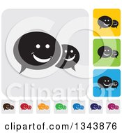 Clipart Of Rounded Corner Square Speech Balloon App Icon Design Elements 3 Royalty Free Vector Illustration
