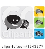 Clipart Of Rounded Corner Square Speech Balloon App Icon Design Elements 2 Royalty Free Vector Illustration