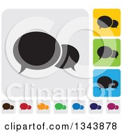Clipart Of Rounded Corner Square Speech Balloon App Icon Design Elements Royalty Free Vector Illustration