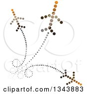 Clipart Of Jets Made Of Brown And Black Dots With Trails Royalty Free Vector Illustration by ColorMagic