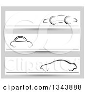 Clipart Of Car Website Banners Over Gray Royalty Free Vector Illustration