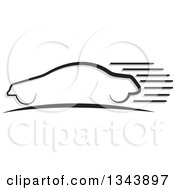 Clipart Of A Black Car With Speed Trails Royalty Free Vector Illustration by ColorMagic