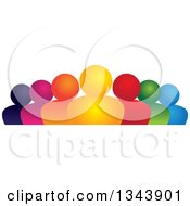 Clipart Of A Colorful Group Of People Royalty Free Vector Illustration