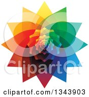 Clipart Of A Colorful Flower 2 Royalty Free Vector Illustration