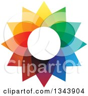 Clipart Of A Colorful Flower 3 Royalty Free Vector Illustration