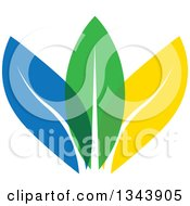 Clipart Of Colorful Leaves Royalty Free Vector Illustration