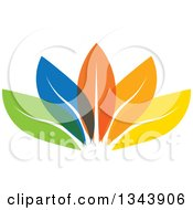 Clipart Of Colorful Leaves 2 Royalty Free Vector Illustration
