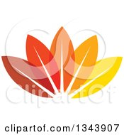 Clipart Of Colorful Autumn Leaves Royalty Free Vector Illustration
