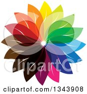 Clipart Of A Colorful Flower 8 Royalty Free Vector Illustration