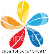Clipart Of A Colorful Flower Royalty Free Vector Illustration