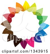 Clipart Of A Colorful Flower 4 Royalty Free Vector Illustration