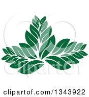 Clipart Of A Green Leaf Design Royalty Free Vector Illustration