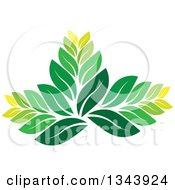 Clipart Of A Green Leaf Design 4 Royalty Free Vector Illustration
