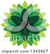 Clipart Of A Green Leaf Design 5 Royalty Free Vector Illustration