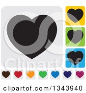 Clipart Of Rounded Corner Square Heart App Icon Design Elements 5 Royalty Free Vector Illustration