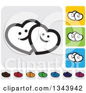 Clipart Of Rounded Corner Square Heart App Icon Design Elements 6 Royalty Free Vector Illustration