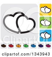 Clipart Of Rounded Corner Square Heart App Icon Design Elements Royalty Free Vector Illustration